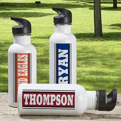Aluminum Personalized Sports Water Bottle -..
