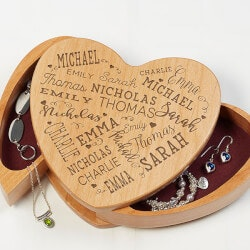 Personalized Gifts (Under $50):Engraved Jewelry Box - Close To Her Heart