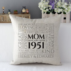 Christmas Gifts for Mom Under $50:Amazing Mom Cushion