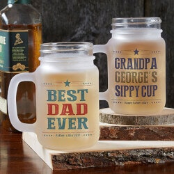 Personalized Gifts for Dad:Personalized Mason Jars - Write Your Own..