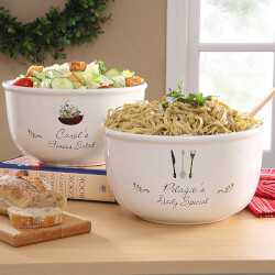Personalized Ceramic Serving Bowl