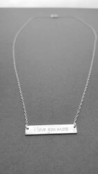 I Love You More Bar Necklace