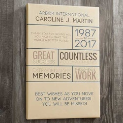 Personalized Gifts for Mom:Retirement Wishes 12x18 Personalized Canvas..