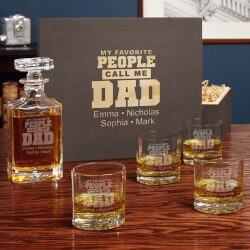 Whiskey Gifts:Favorite People Dad Gift - Personalized..