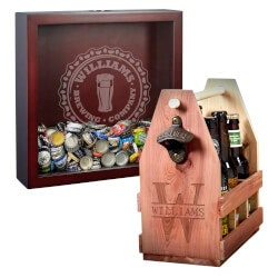 Unique Gifts (Under $100):Bottle Cap Shadow And Beer Caddy