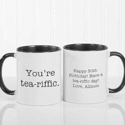 Personalized Gifts (Under $10):Personalized 11oz Black Coffee Mug - Add Any..
