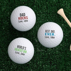 Personalized Gifts (Under $10):Personalized Golf Balls - Best Dad Ever