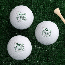 Gifts Under $10:Personalized Golf Balls - Fore My Sweetheart