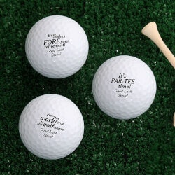 Personalized Gifts for Coworkers:Personalized Golf Balls - Retirement Gift