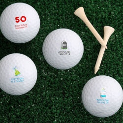 50th Birthday Gifts:Personalized Golf Balls - Birthday Wishes