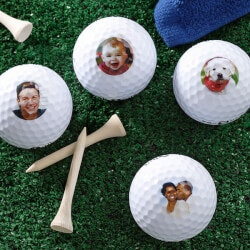Birthday Gifts for Boyfriend Under $50:Personalized Photo Golf Balls