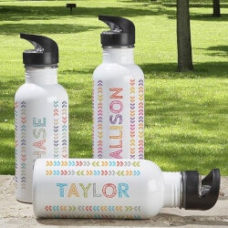 Gifts for 10 Year Old Boys:Personalized Water Bottle For Kids - Stencil..