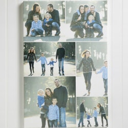 Christmas Gifts for Mom Under $50:Custom Photo Collage Canvas
