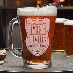 Personalized Beer Pitcher - Beer Label