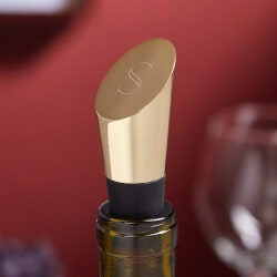 Personalized Gold Wine Stopper