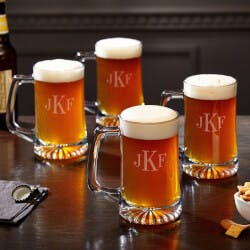 Brewmaster 15 Oz Classic Monogram Beer..