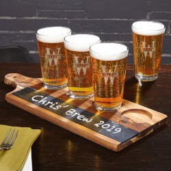 Acacia Beer Serving Tray With Oakmont..