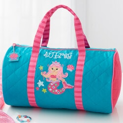 Gifts for 3 Year Old Boys:Personalized Kids Duffel Bag - Mermaid