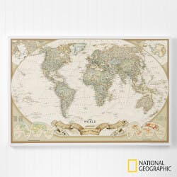 Romantic Travels 20x30 Personalized World. Map