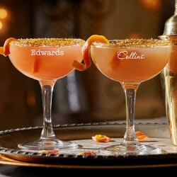 Personalized Gifts (Under $10):Personalized Coupe Cocktail Glass - Add Any..