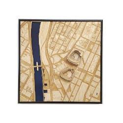 Stadium Map Art: Laser Cut Stadium City Map..
