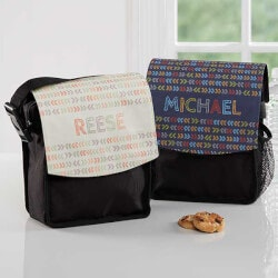 Personalized Gifts for Boys:Personalized Lunch Bags - Stencil Name