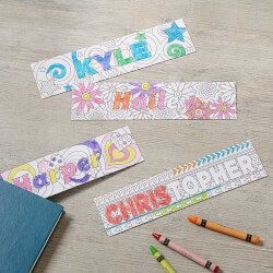 Personalized Gifts:Color Your Own Custom Bookmarks - Set Of 4