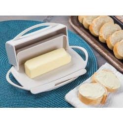Butterie: Flip-Top Butter Dish & Spreader