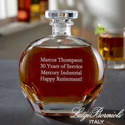 70th Birthday Gifts Under $50:Engraved Whiskey Decanter