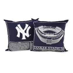 Baseball Stadium Blueprint Pillows - Team..