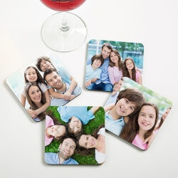Personalized Gifts:Personalized Photo Bar Coaster Set - Picture..