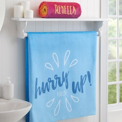 Morning Motivation Personalized Bath Towels