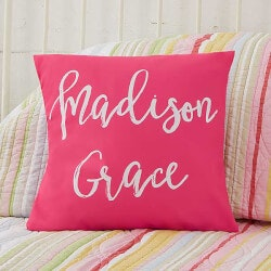 Personalized Kids Throw Pillow