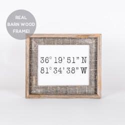 Custom Coordinates In A Reclaimed Barn Wood..