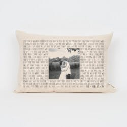 Song Lyric & Photo Personalized Pillow