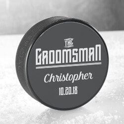 Gifts Under $10:Personalized Hockey Puck For Wedding Party