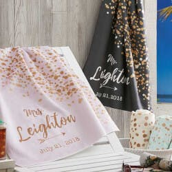 Personalized Beach Towels - Sparkling Love
