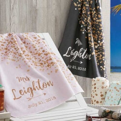 Personalized Christmas Gifts for Family:Personalized Beach Towels