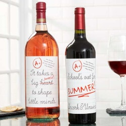 Personalized Gifts (Under $10):Personalized Wine Bottle Label - Teacher Gift