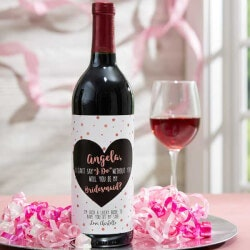 Personalized Gifts:Will You Be My Bridesmaid Personalized Wine..