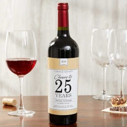 Personalized Gifts (Under $10):Retirement Gift Personalized Wine Bottle..