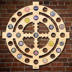 Thurston Monogram Dimpled Beer Steins, Set..
