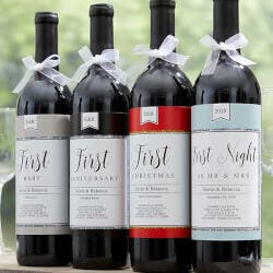 Personalized Milestone Wine Labels - A Year..