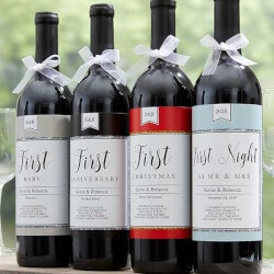 Anniversary Gifts:Milestone Wine Labels