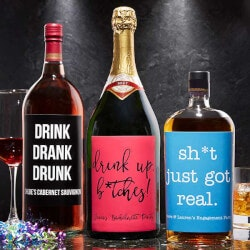 Best Gifts of 2019:Custom Liquor Labels - Write Your Own