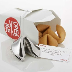 Gifts for Girlfriend:Personalized Fortune Cookie - Will You Be My..