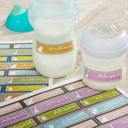 Personalized Gifts:Personalized Baby Bottle Labels - Baby Zoo..