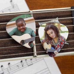 Personalized Gifts:Custom Photo Guitar Picks - 2 Photos - Set..