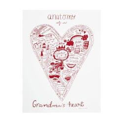 Anatomy Of A Grandparents Heart Screenprint