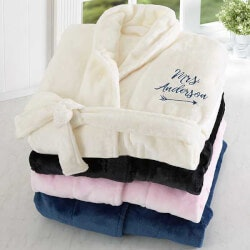 Anniversary Gifts:Embroidered Luxury Bathrobe For Her